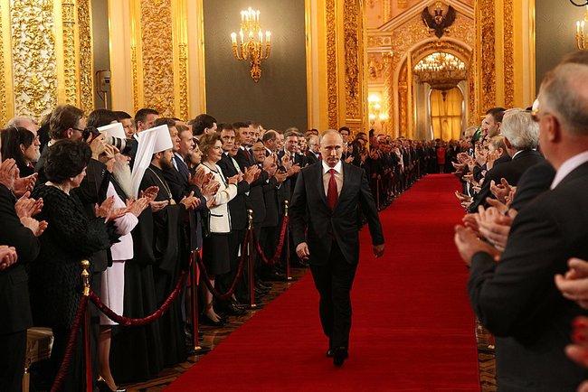 Vladímir Putin en la ceremonia de investidura de 2012