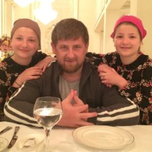 con las hijas