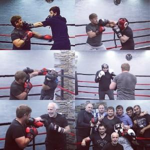 entrenando boxeo