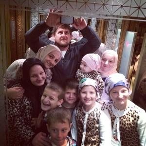 selfi con la familia