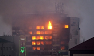 Incendio de las oficionas de The Joint Mobile Group en Grozny