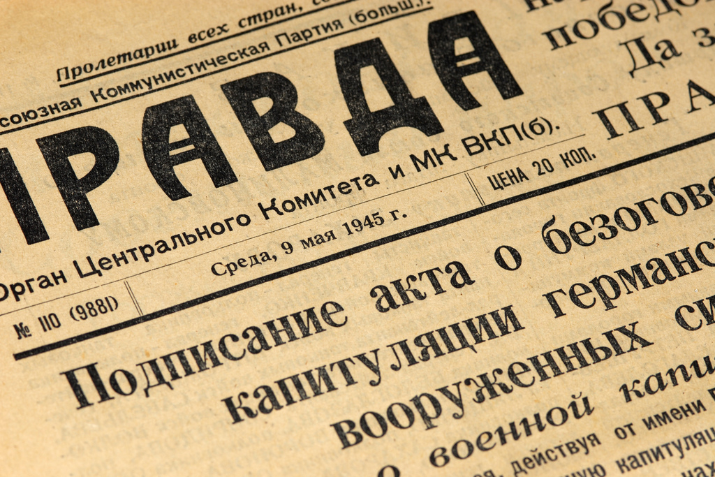 Pravda, 9 de mayo de 1945